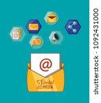 social media design | Shutterstock .eps vector #1092431000