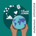social media design | Shutterstock .eps vector #1092431018