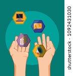 social media design | Shutterstock .eps vector #1092431030