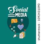 social media design | Shutterstock .eps vector #1092431090