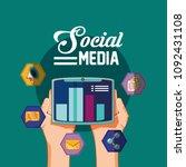 social media design | Shutterstock .eps vector #1092431108