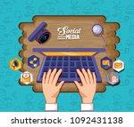 social media design | Shutterstock .eps vector #1092431138
