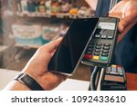 wireless payment for buying a... | Shutterstock . vector #1092433610