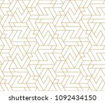 abstract geometric pattern with ... | Shutterstock .eps vector #1092434150
