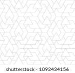 abstract geometric pattern with ... | Shutterstock .eps vector #1092434156