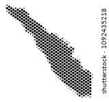 abstract sumatra island map.... | Shutterstock .eps vector #1092435218