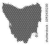 abstract tasmania island map.... | Shutterstock .eps vector #1092435230