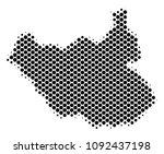 abstract south sudan map.... | Shutterstock .eps vector #1092437198