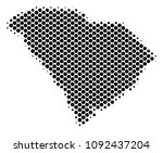 abstract south carolina state... | Shutterstock .eps vector #1092437204
