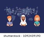 social media design | Shutterstock .eps vector #1092439190