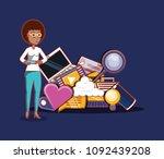 social media design | Shutterstock .eps vector #1092439208