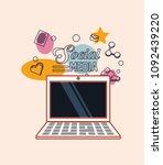 social media design | Shutterstock .eps vector #1092439220