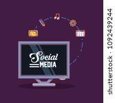 social media design | Shutterstock .eps vector #1092439244