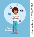 social media design | Shutterstock .eps vector #1092439280