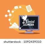 social media design | Shutterstock .eps vector #1092439310