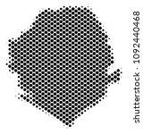abstract sierra leone map.... | Shutterstock .eps vector #1092440468