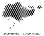 abstract singapore map. vector... | Shutterstock .eps vector #1092440480