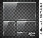 glass plates set. glass banners ...   Shutterstock . vector #1092442373
