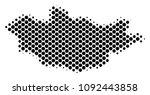 abstract mongolia map. vector... | Shutterstock .eps vector #1092443858