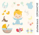 cute baby toy vector | Shutterstock .eps vector #1092444749