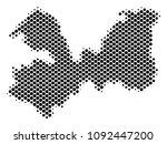 abstract leningrad oblast map.... | Shutterstock .eps vector #1092447200
