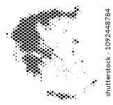 abstract greece map. vector... | Shutterstock .eps vector #1092448784