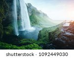 perfect view of powerful... | Shutterstock . vector #1092449030