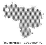 schematic venezuela map. vector ... | Shutterstock .eps vector #1092450440