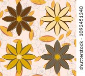 new color seamless pattern with ... | Shutterstock . vector #1092451340