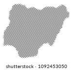 schematic nigeria map. vector... | Shutterstock .eps vector #1092453050