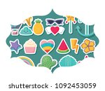 cute related icons | Shutterstock .eps vector #1092453059