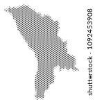 schematic moldova map. vector... | Shutterstock .eps vector #1092453908