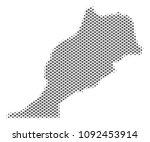 schematic morocco map. vector... | Shutterstock .eps vector #1092453914