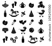 set baby icons | Shutterstock .eps vector #109245500