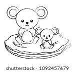 cute animals design | Shutterstock .eps vector #1092457679