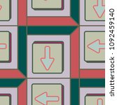 seamless abstract pattern with... | Shutterstock .eps vector #1092459140
