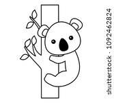 cute animals design | Shutterstock .eps vector #1092462824