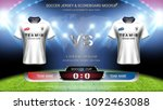 football cup or world... | Shutterstock .eps vector #1092463088
