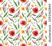 watercolor seamless pattern... | Shutterstock . vector #1092463844