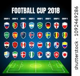 football 2018  europe... | Shutterstock .eps vector #1092469286