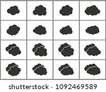 simple set vector clouds icons. ... | Shutterstock .eps vector #1092469589