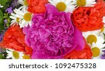 bouquet of flowers isolated on... | Shutterstock . vector #1092475328