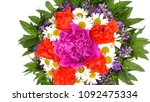 bouquet of flowers isolated on... | Shutterstock . vector #1092475334