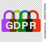 general data protection... | Shutterstock .eps vector #1092478244