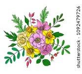 vintage vector floral...   Shutterstock .eps vector #1092479726