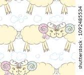 seamless pattern background... | Shutterstock .eps vector #1092485534