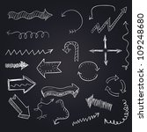 hand drawn artistic arrows set 3 | Shutterstock .eps vector #109248680