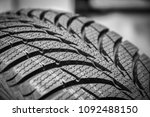 black stylish new tire for cars ... | Shutterstock . vector #1092488150