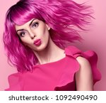 glamour beautiful lady with... | Shutterstock . vector #1092490490