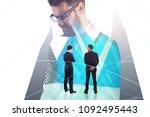 businessmen standing in... | Shutterstock . vector #1092495443